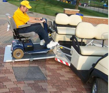 wheelchair access golf car